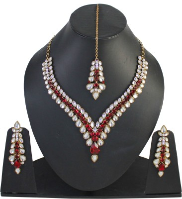 Touchstone Alloy Jewel Set(Red) at flipkart