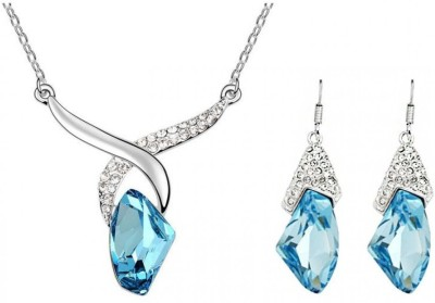 Carina Crystal Jewel Set(Multicolor) at flipkart
