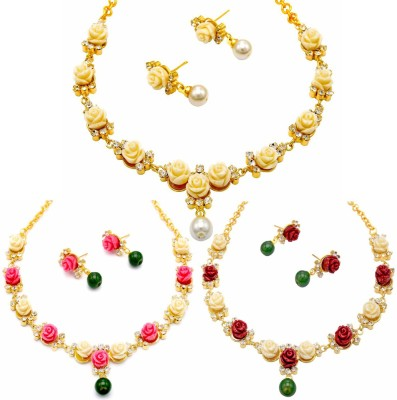 Pearls Cart Alloy Jewel Set