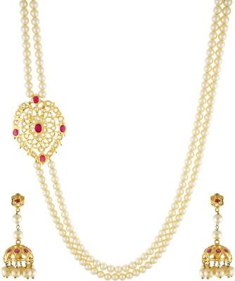 Chaahat Fashion Jewellery Copper Jewel Set(White)