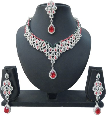 Shree Bhawani Art Jewellery Alloy Jewel Set(Red, Green)
