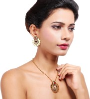 Aarvi Collections Copper Jewel Set(Gold) best price on Flipkart @ Rs. 1080