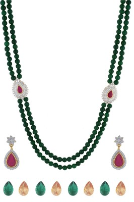 Chaahat Fashion Jewellery Copper Jewel Set(Green)