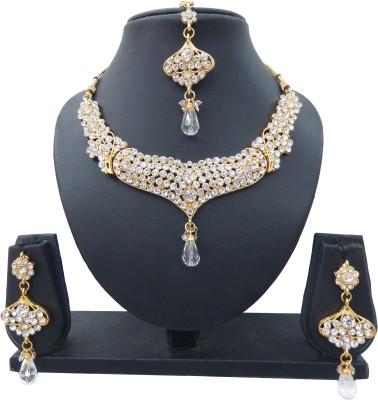 Shree Bhawani Art Jewellery Alloy Jewel Set(White)