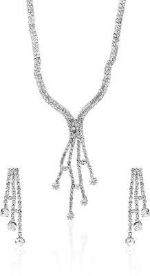 Sia Art Jewellery Alloy Jewel Set(Silver)