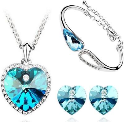 Cyan Alloy Jewel Set(Blue)