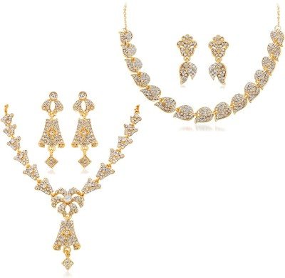 Reeva Fashion Jewellery Zinc Jewel Set(Gold)