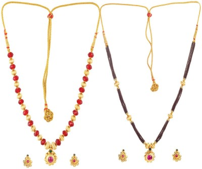 Womens Trendz Alloy Jewel Set(Gold) at flipkart