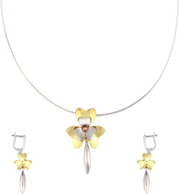 Gurudev Diamonds Silver Jewel Set(Gold) at flipkart