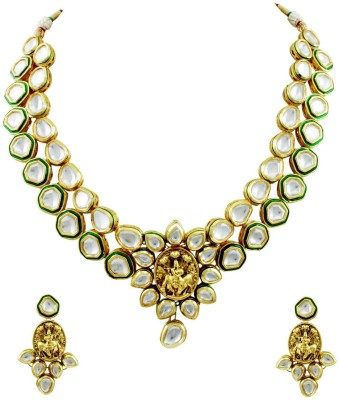 The Art Jewellery Brass Jewel Set(Green)