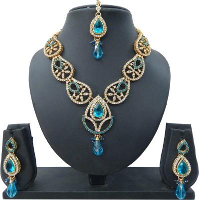 Shree Bhawani Art Jewellery Alloy Jewel Set(Blue)