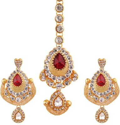 Reeva Fashion Jewellery Alloy Jewel Set(Red)