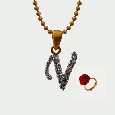 Nisa Pearls & Jewellery Alloy Jewel Set(White, Red)