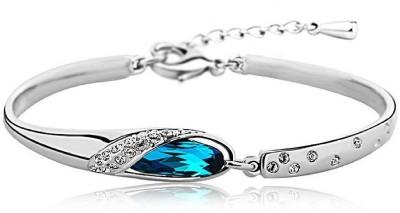 Karatcart Zinc Crystal Platinum Charm Bracelet