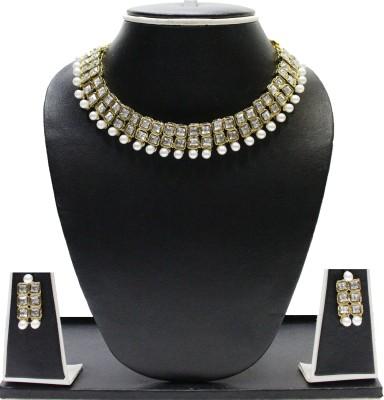 Zaveri Pearls Alloy Jewel Set(White) at flipkart