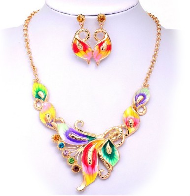 Omkara Zinc, Alloy, Enamel Jewel Set