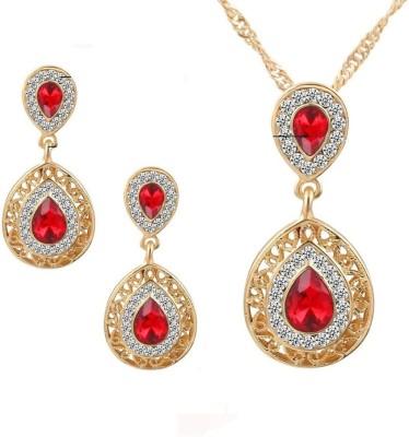 FreshMe Fashion Jewellery Alloy Jewel Set(Red)