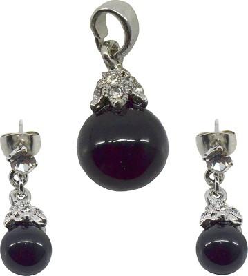 Saloni Fashion Jewellery Copper Jewel Set(Black)