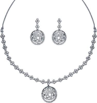 Fashion Art Jewellery Alloy Jewel Set(White)