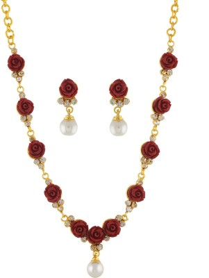 FreshMe Fashion Jewellery Alloy Jewel Set(Red)
