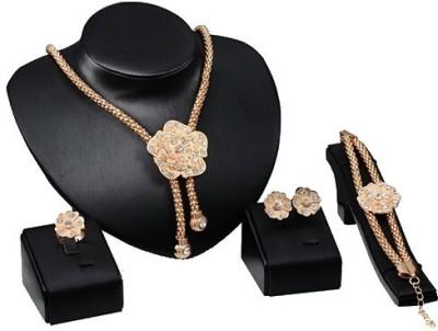 FreshMe Fashion Jewellery Zinc Jewel Set(Gold)