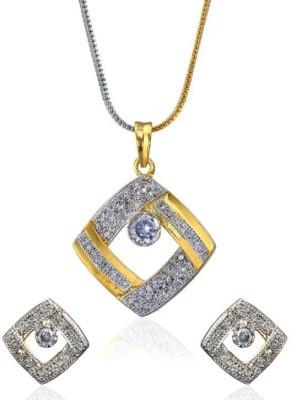 Jewels Guru Brass Jewel Set(Silver, Gold) at flipkart