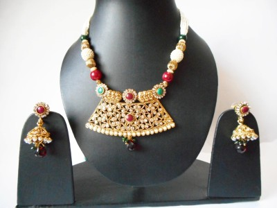 Neelam Fashions And Accessories Alloy Jewel Set(Gold)