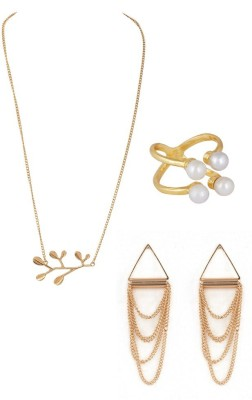 House Of Accessories Alloy Jewel Set(Gold)