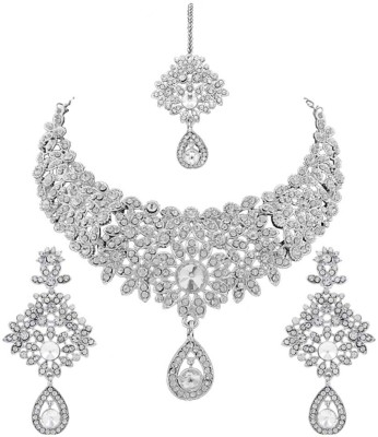 Reeva Fashion Jewellery Zinc Jewel Set(White)