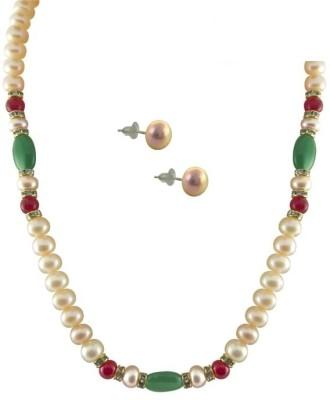 SJ Pearls Mother of Pearl Jewel Set