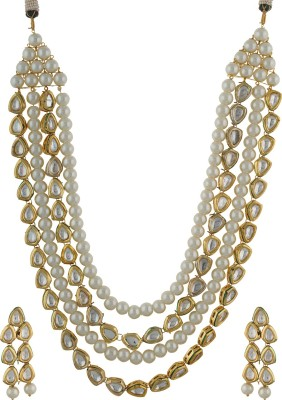 Chaahat Fashion Jewellery Alloy Jewel Set(White)