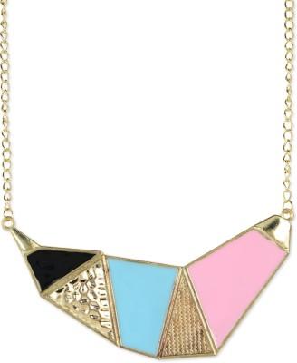 Fayon Multicolour Geometric Alloy Necklace