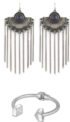 House Of Accessories Alloy Jewel Set(Silver)