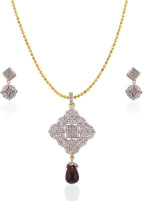 Heena Jewellery Alloy, Brass Jewel Set(Multicolor)