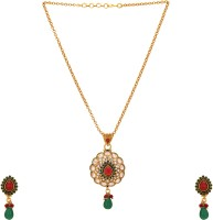 Aarvi Collections Copper Jewel Set(Gold) best price on Flipkart @ Rs. 999