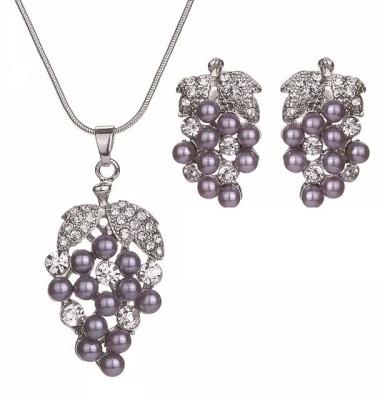 FreshMe Fashion Jewellery Zinc Jewel Set(Purple)