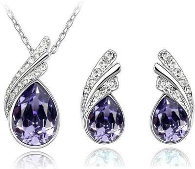 Cyan Alloy Jewel Set(Purple)