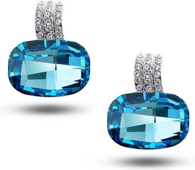 Silver Shoppee My love Crystal, Cubic Zirconia Alloy Stud Earring