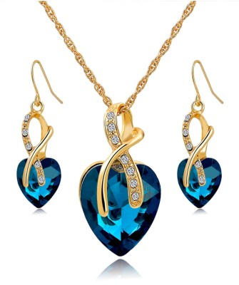 Hypernation Alloy Jewel Set(Blue) at flipkart