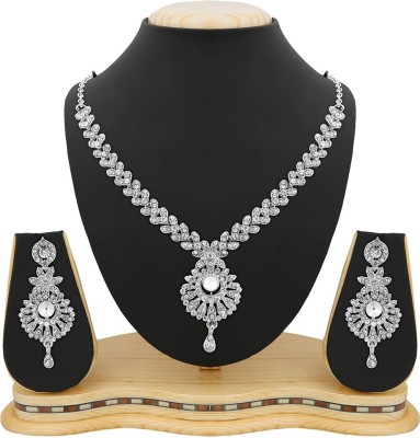 Reeva Fashion Jewellery Zinc Jewel Set(Silver)