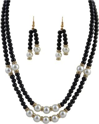 Classique Designer Jewellery Alloy Jewel Set(Black)