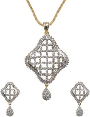 Sheetal Jewellery Brass, Alloy Jewel Set(White)