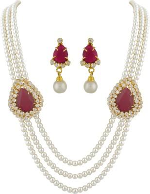Classique Designer Jewellery Alloy Jewel Set(Multicolor)