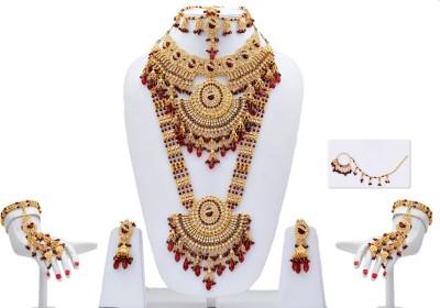 Lucky Jewellery Alloy Jewel Set(Maroon)