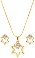 Golden Peacock Alloy Jewel Set(Gold) best price on Flipkart @ Rs. 625