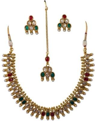 Vaishali Bindi and Bangles Brass, Copper Jewel Set