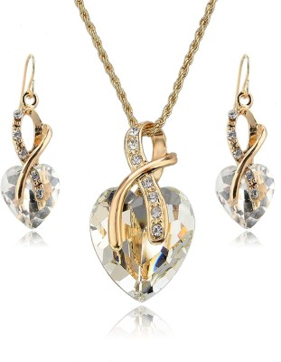 Hypernation Alloy Jewel Set(White) at flipkart