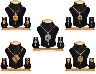 Oleva Alloy Jewel Set(Multicolor) at flipkart