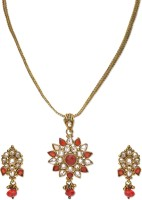 Golden Peacock Alloy Jewel Set(Red) best price on Flipkart @ Rs. 775