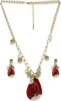 Golden Peacock Alloy Jewel Set(Red) best price on Flipkart @ Rs. 1699